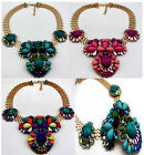 Hot Newest Beads Vintage Color Irregular Beads Floral Pendant Statement Necklace