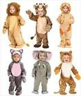 Toddler LION TIGER ELEPHANT GIRAFFE Fancy Dress JUNGLE Party Costume 1 - 2 YEARS