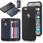 Black Hybrid Shockproof Hard Rugged Heavy Duty Cover Case For Apple iPhone 6 6s