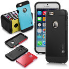 For Apple iPhone 6s Hard Soft Rubber Hybrid Armor Impact Skin Case Cover New