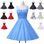 Elegant Lady Vintage Rockabilly Polka dots Prom 50s 60s Homecoming Party Dress 1
