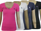 RALPH LAUREN WOMEN'S SHORT SLEEVE V NECK PERFECT TEE, T-SHIRT Size S,M,L,XL NEW