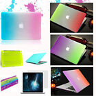 """Rubberized hard Cover Crystal case for MAC Macbook AIR 11"""" 13"""" PRO 15""""+Retina"""