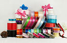 MADE IN TAIWAN Satin Ribbon Polyester Spool Craft 39 Colors 5 Sizes Available