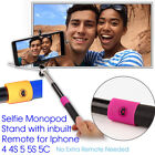 Extendable Selfie Handheld Stick Monopod with Inbuilt Remote Cable For iPhone 5