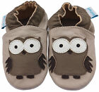 MINIFEET SOFT LEATHER BABY SHOES 0-6, 6-12, 12-18,18-24 Mths & 2-3 Yrs BEIGE OWL