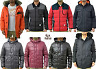 Mens Bellfield Jackets Padded Puffer Quilted & Parka Long Fur Coat For Winter