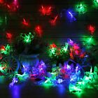 10M 60 LED Santa Claus Shaped Fiber Optic Fairy String Wedding Party Decor