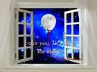 For You, I'd Catch the Moon Matted Picture Art Print A656