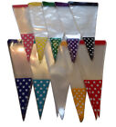 POLKA DOT SPOT Cone Cello Clear Party Gift Sweet 37 x 18 cm   Bags & twist Ties