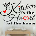 The Kitchen is the Heart of the Home Wall Sticker transfer Decal (ART1)