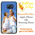 Personalised PHOTO Apple iPhone & Samsung case cover PICTURE LOGO customised !