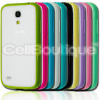 TPU BUMPER WITH HARD BACK CASE FOR SAMSUNG GALAXY S4 S5 COVER S4 MINI