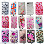 NEW BLING COOL FLOWER BLACK DIAMANTE CASE COVER 4 APPLE IPHONE 4S 5 5S 5C 6 6s 7