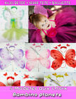 ♡ SET DEGUISEMENT TUTU + AILES DE FEE PAPILLONS FILLE FAIRY WINGS BABY GIRL fée♡