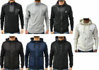 Mens ETO Jeans Warm Sweater Sweatshirt Jumper Cardigan Hooded Zipper Jacket Top