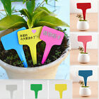 100pcs Plastic Plant T-type Tags Markers Nursery Garden Labels new