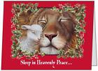 UR Words BUSINESS PERSONAL 5.5X4 Lion Lamb PEACE CUSTOM Christmas CARDS USA