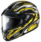 HJC CL-Max 2 Atomic Yellow Modular Snowmobile Helmets