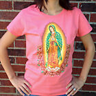 OUR LADY OF GUADALUPE Catholic T-shirt - Ladies/Missy - Coral - 2-SIDED!*** image