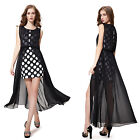 Ever Pretty Black Two Pieces Set Short Cocktail Party Summer New Dresses 08332