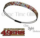 NWT 49ers Fans Team Color Womens Rhinestone Bling Headbands Wear w/ Jersey