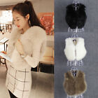 Fashion Women Winter Warm Faux Fur Waistcoat Vest Jacket Coat Outwear Parka Tops