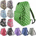 Ladies Butterfly Floral Canvas Backpack Rucksack School Travel Shoulder Bag
