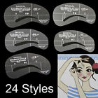 24Styles Womens Eyebrow Grooming Stencil Kit Template Make Up Shaping DIY Tools