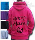 HORSE HOODIE HORSE Riding Equestrian HOODIE MOODY MARE age 7/8 SALE ITEM