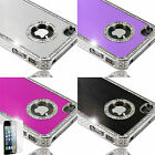 Diamante Jewelled Bling hard case cover for apple iphone 4s + Screen Protector