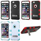 "For iPhone 6 Plus (5.5"") Rugged 3 Pieces Hybrid Impact Cover Case With Kickstand"