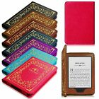 Vintage Leather Cover Book Style Case for Kindle 7th Generation 2014 Wake/Sleep