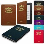 Vintage Leather Cover Slim Shell Case for Kindle 7th Generation 2014 Sleep/Awake