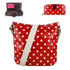 Ladies Red Polka Dots Spots Shoulder Crossbody Messenger Bag And Purse Gift Set