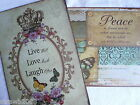 Metal Shabby Chic Distressed Vintage Retro Door Wall Sign Live Laugh Love/Peace