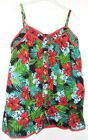 bnwt Primark Young Dimension Girls Floral Vest Top Colour Green/Multi 9-10 Year