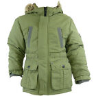 Childrens Bench Produce Khaki Hooded Jacket