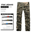 NEW MENS FOXJEANS CAUSAL CAMO MILITARY PANTS ARMY CARGO WORK  TROUSERS 32-42