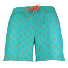 Mens Original Penguin Printed Penguin Scuba Blue Elasticated Swim Shorts