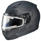 HJC CL-17 Full Face Snowmobile Helmet with Electric Lens Mission Matte Black