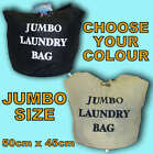 LARGE LAUNDRY WASHING IRONING STORAGE BATHROOM BAG COTTON CANVAS SACK KIDS TOYS