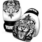 New TUFF Muay Thai Boxing Gloves White Tiger (N) Kick Boxing Training Fighting