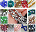 HOT DIY Faceted Bicone Rondelle Glass Jewelley Crystals Beads 4mm 6mm 8mm