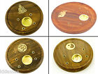 INCENSE PLATE HOLDER for cones and sticks yin yang buddha om 30 elephant wicca