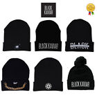 Black Kaviar Fashion Cuff Knits Emblem/Basic/Mosaic Black Beanie Hats RRP £30.00
