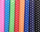 LARGE STARS - POLYCOTTON FABRIC Blue Red Black Pink Orange Lime CUT OFF THE ROLL