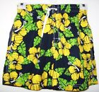 bnwt Primark c.s.active Mens Green/Black/Yellow Floral SwimShorts size small