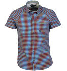 Duck & Cover Gingham Haxby Check Mens S/S Shirt Pacific