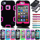 Hybrid Shockproof Shock Dirt Proof Durable Dual Layer Case Cover For iPhone 4 4S